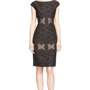 ESCADA Lace Brocade Sheath Knee Length Dress